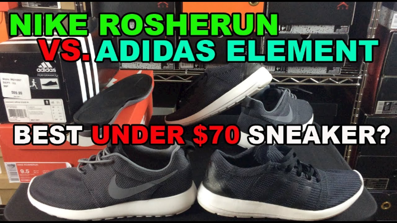 Nike RosheRun vs Adidas Element Comparison! Great Summer Sneakers Under  $70! - YouTube