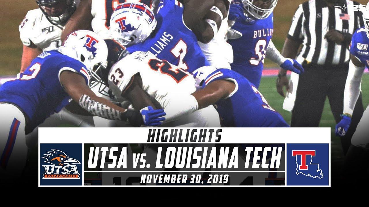 Utsa Vs Louisiana Tech Football Highlights 2019 Stadium Youtube