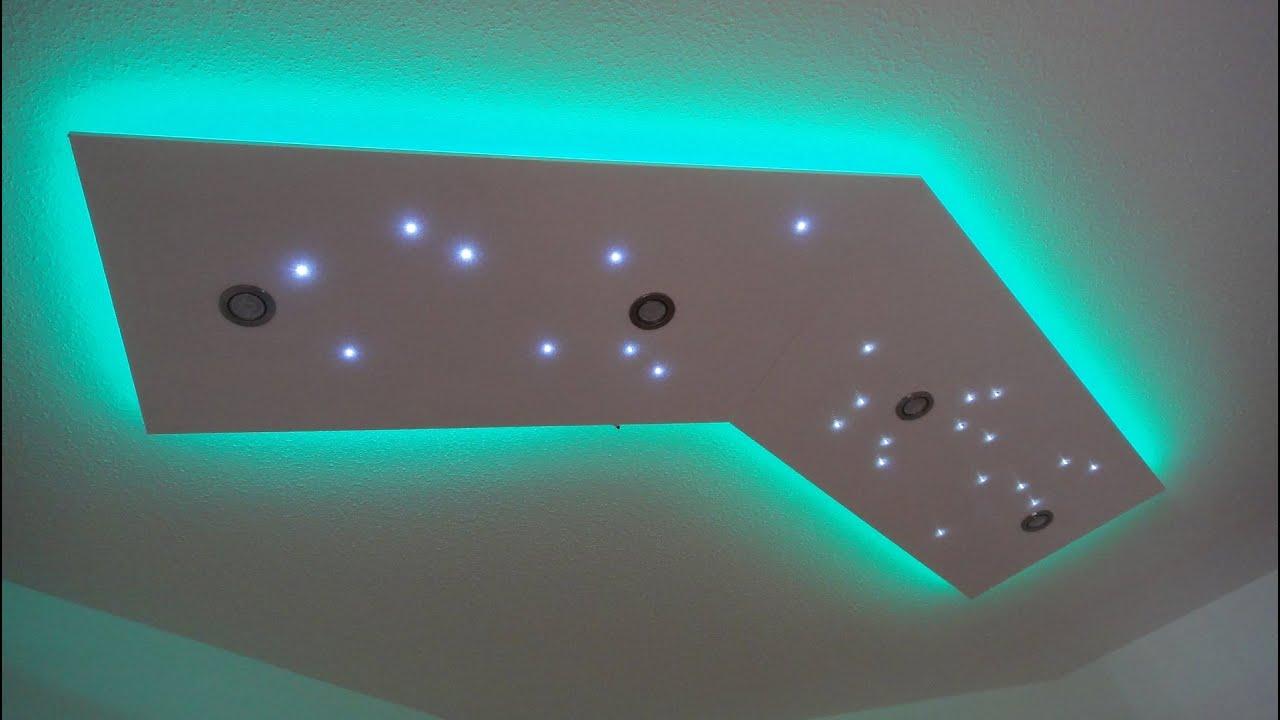 Deckenleuchte selber bauen  direktes und indirektes LED
