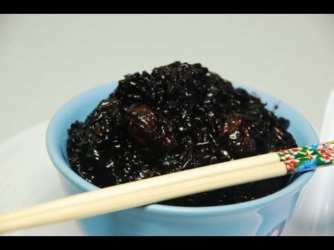 black-glutinous-sticky-rice:-clay-pot-style-with-rice-cooker.