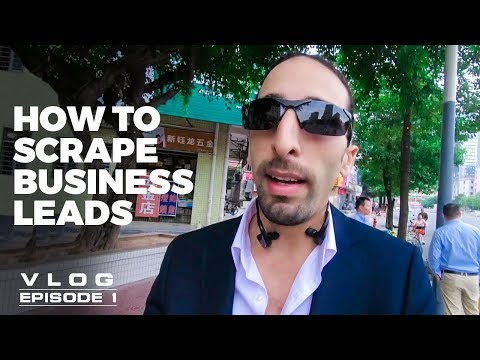 How to scrape unlimited business leads : Vlog Series - Episode 1
