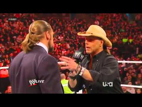 WWE Raw 3/6/12 Shawn Michaels is Referee for Triple H vs Undertaker at Wrestlemania XXVIII
