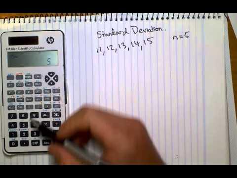 Tutorial, HP calculator standard deviation
