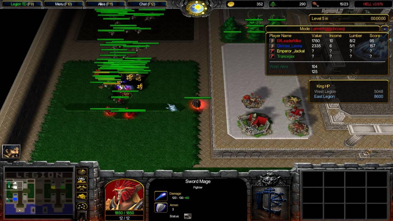 Warcraft 3 TFT - Legion TD Hell #1