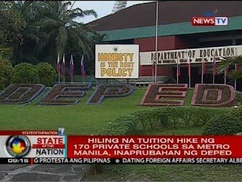 Hiling na tuition hike ng 170 private schools sa Metro Manila, inaprubahan ng DepEd