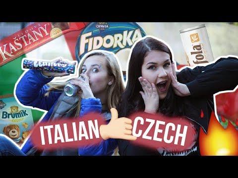 ITALIAN TRYING CZECH CANDIES |EN| Denny Canton
