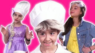 COMPILATION: Princess Cooking Fun 🍽 Chocolate Food & MORE! - Princesses In Real Life | Kiddyzuzaa