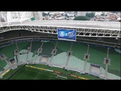 Passeio de drone pelo Allianz Parque/Arena Palmeiras no GESP (02/12/2015)