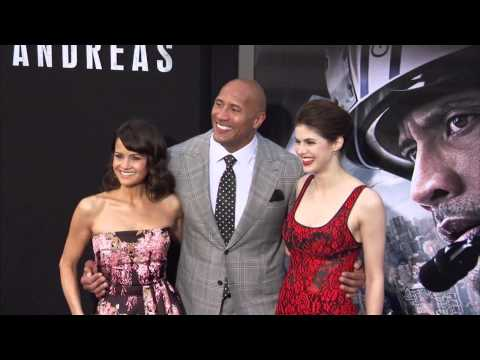 San Andreas: Dwayne Johnson, Alexandra Daddario, Carla Cugino & Cast Arrive to the World Premiere