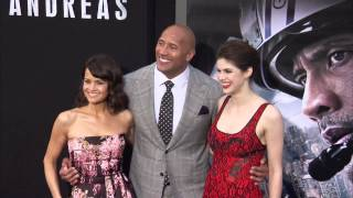 san andreas dwayne johnson alexandra daddario carla cugino cast arrive to the world premiere