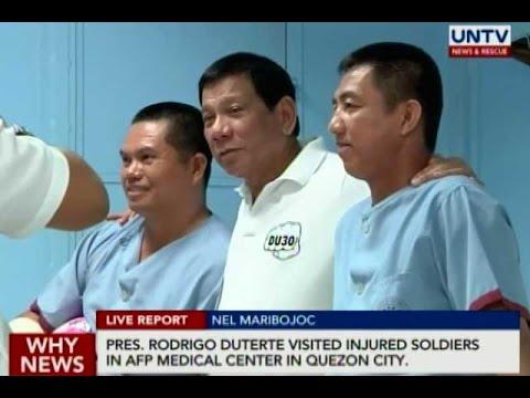 Pres. Duterte visits injured soldiers in AFP Medical Center