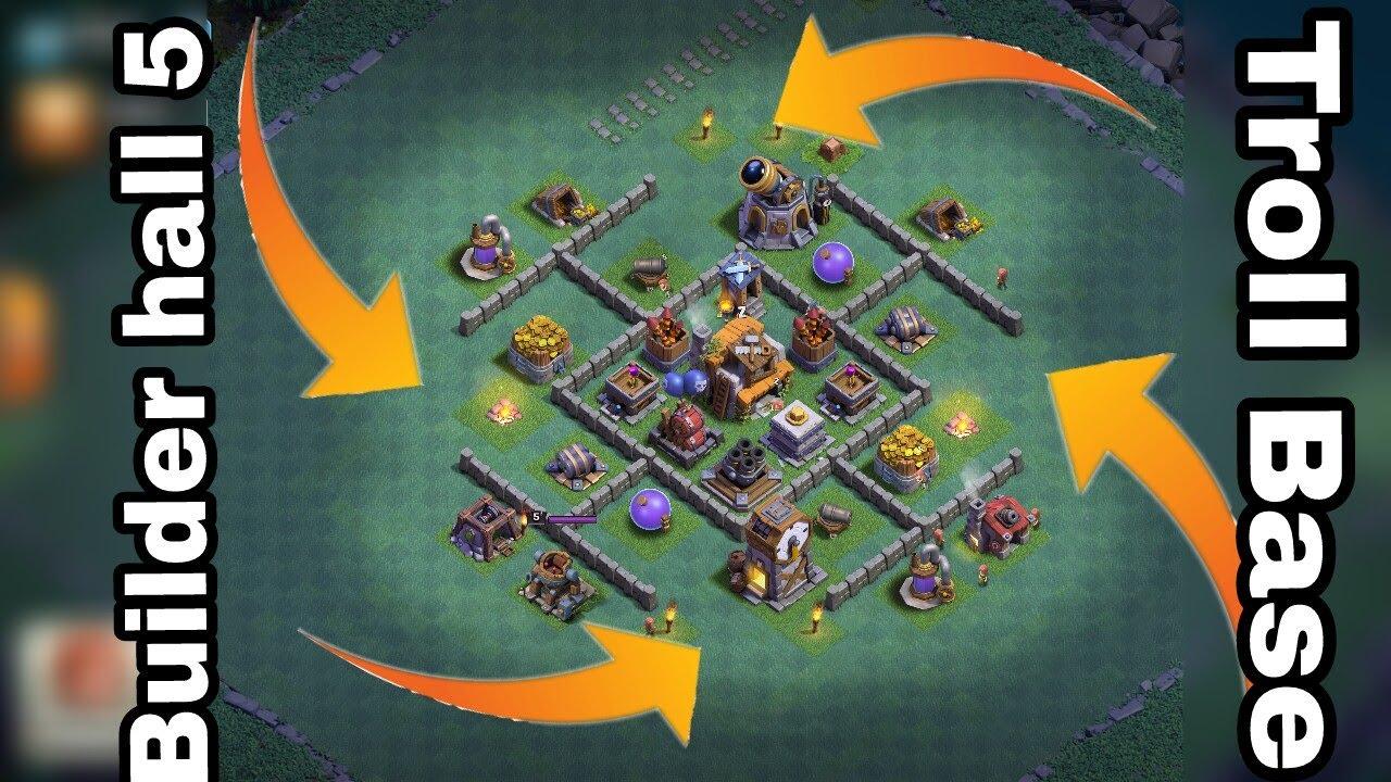 Stream Builder Hall 5 Troll Base Clash Of Clans Builder