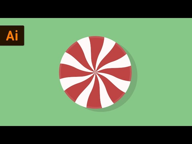 How to Make Vector Christmas Candy | Illustrator Tutorial