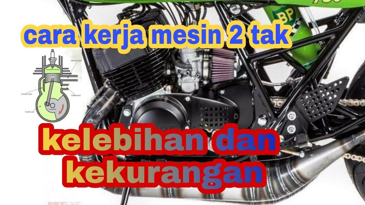 Cara kerja mesin 2 tak  mekanisme mesin 2 stroke - YouTube
