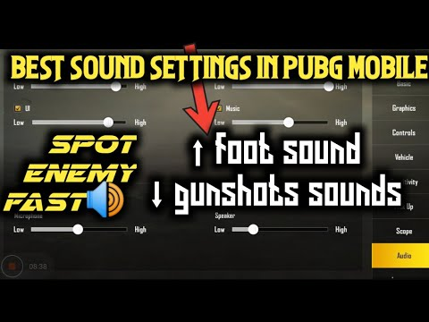 How to increase enemy foot sound | best audio settings in pubg mobile spot  enemy fast🔥