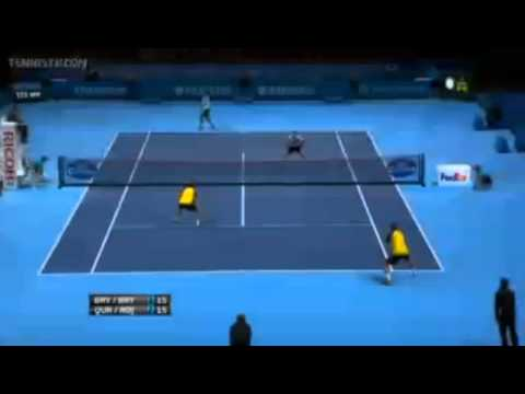 Bryan & Bryan Vs Qureshi & Rojer Barclays ATP World Tour Finals Group A 1st Set
