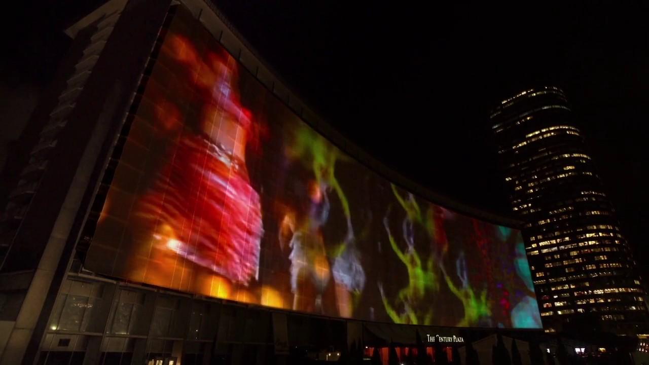 Century Plaza Hotel Bldg  projection
