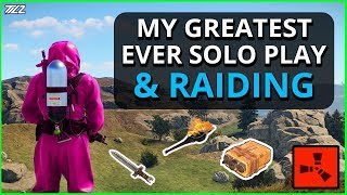 My Greatest Ever SOLO Play (Almost)!! And Lots of RAIDS!! Rust Solo Survival Gameplay Part 5