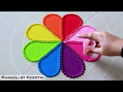 very-easy-rangoli-l-rangoli-designs-with-colours-l-रांगोळी-l-रंगोली-का-वीडियो-l-रांगोळी-डिझाईन-सोपी