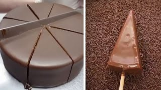 Amazing Chocolate Cake Recipes   Quick and Easy Chocolate Cake Decorating Ideas   So Yummy Cake смотреть онлайн в хорошем качестве - VIDEOOO