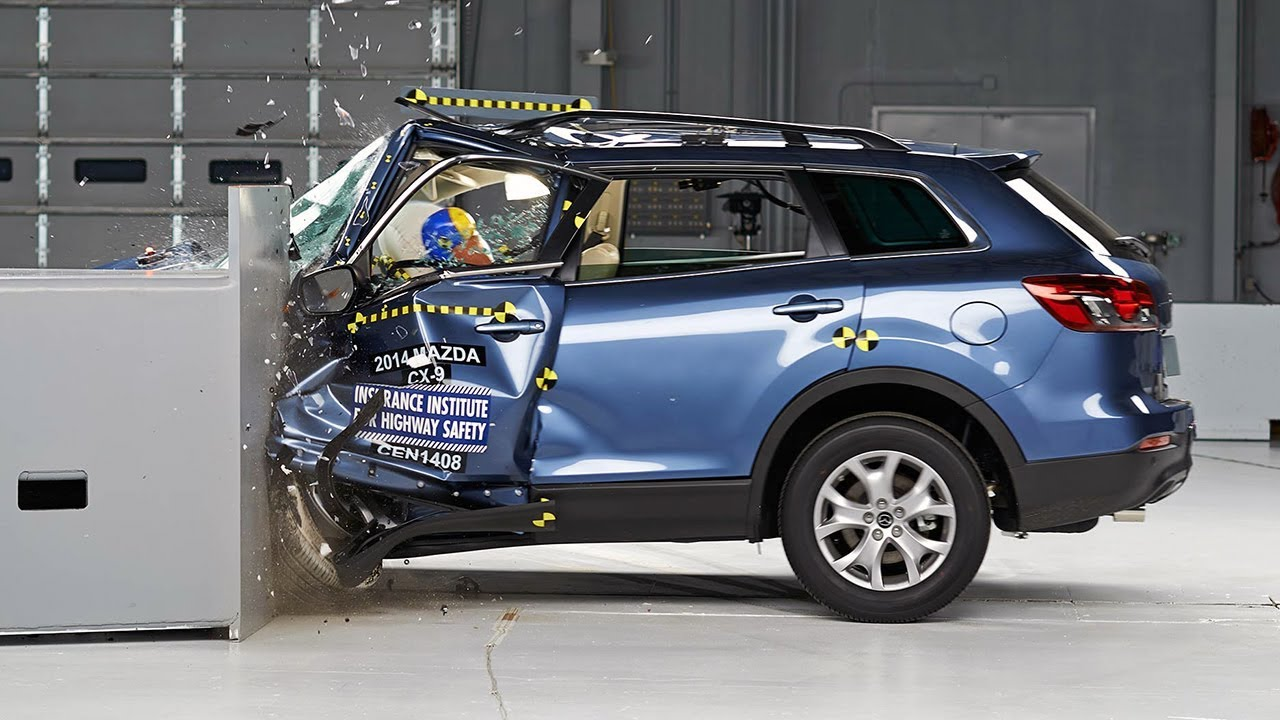 2014 Mazda Cx 9 Driver Side Small Overlap Iihs Crash Test