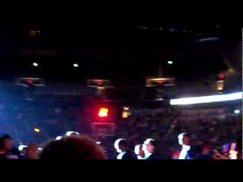 OKC Thunder player introductions vs Dallas Mavericks in Wichita, KS