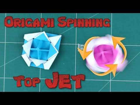 How to Make a Paper Spinner Battle Blade Tutorial | Origami Top Spinning Jet l DIY Paper Spinning