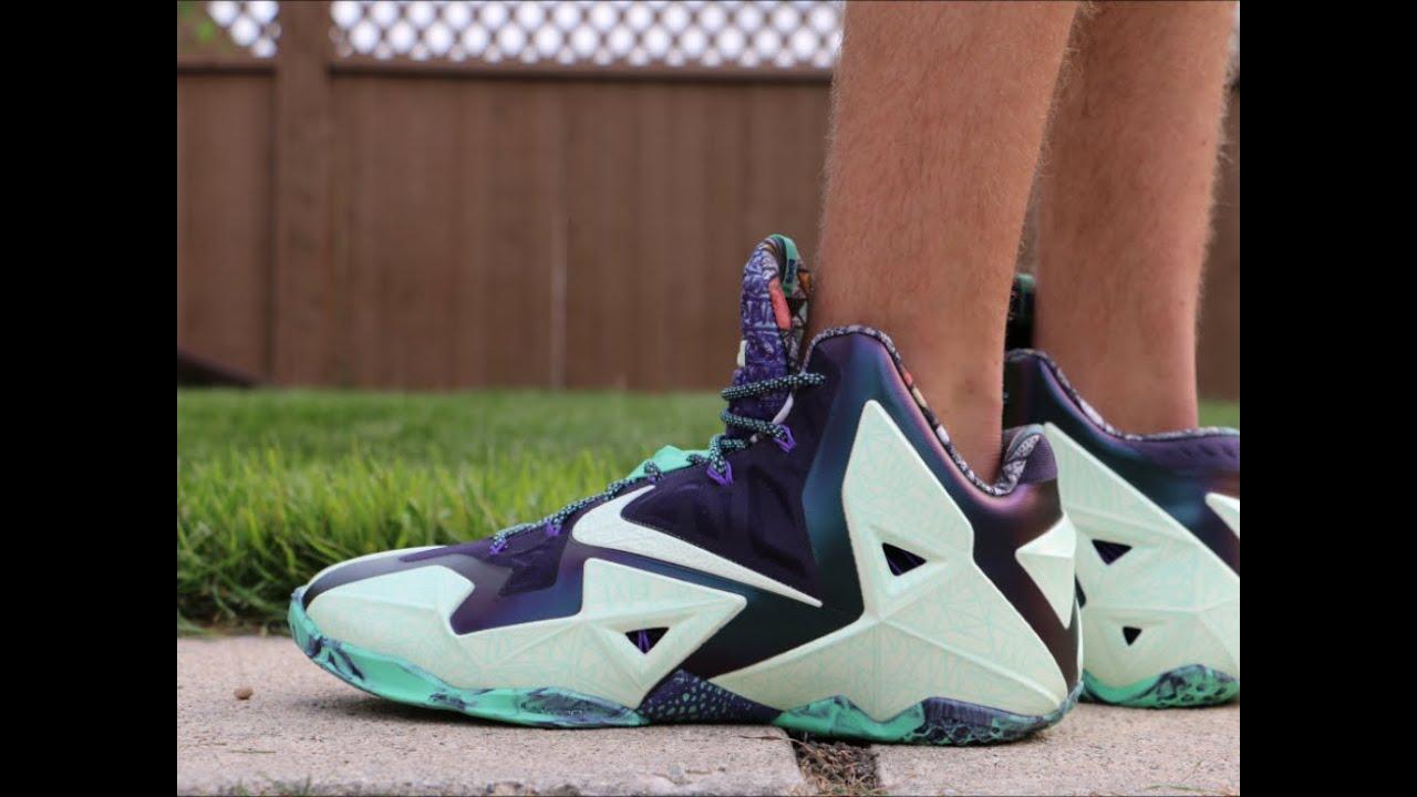 f56ba56da8e Nike LeBron 11 Gator King ASG - On Foot - YouTube