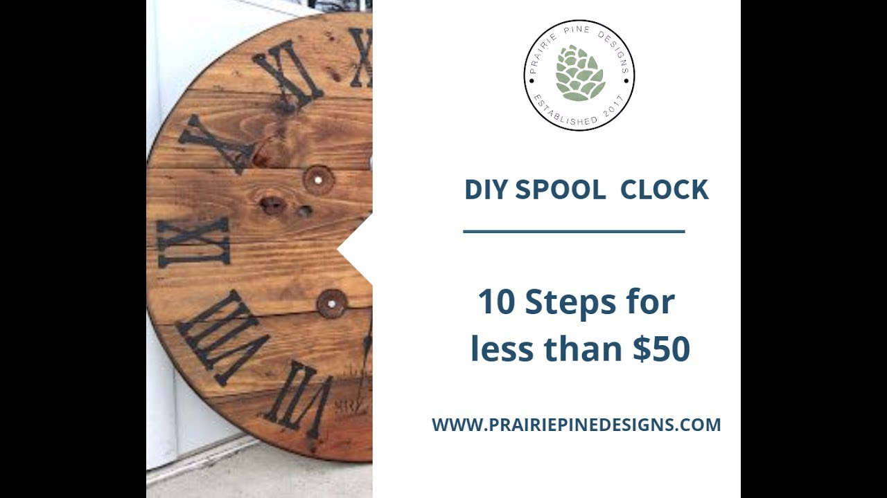Upcycled Spool Clock Diy