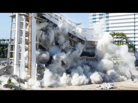 Vea la demolición del antiguo Hospital South Shore en Miami Beach