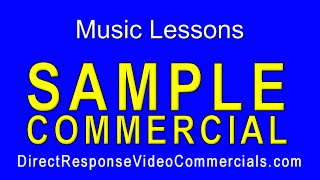 Direct Response Video Commercials Music Lessons Sample