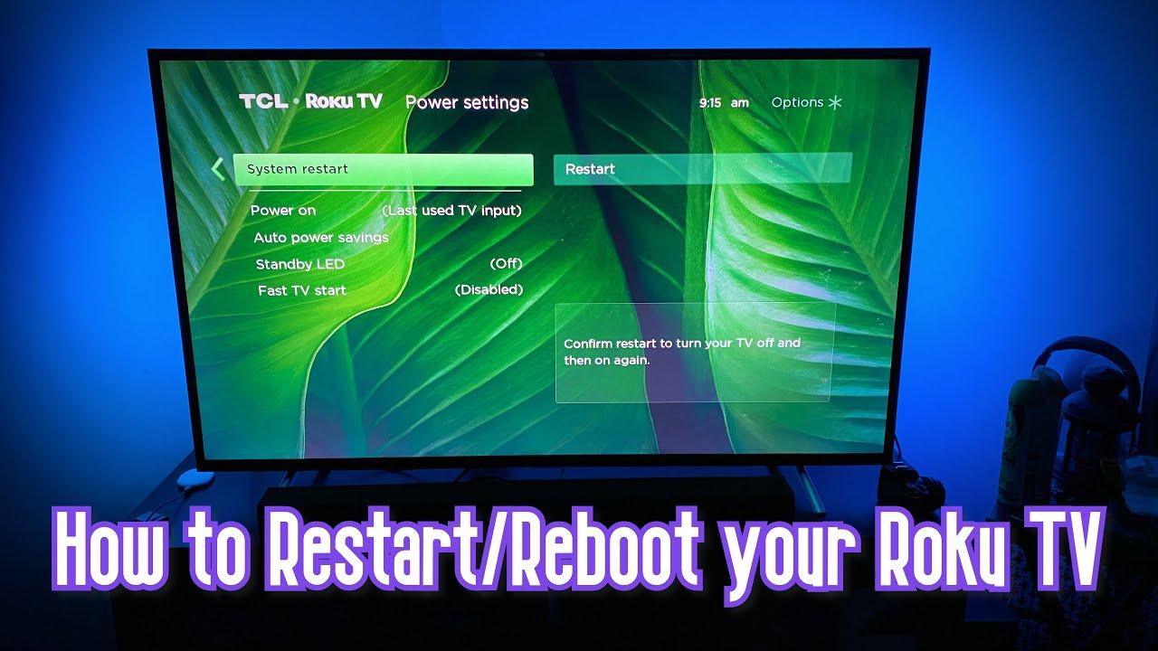How to Restart/Reboot your Roku TV (TCL Roku TV)