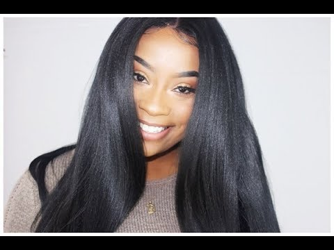$36 Human Hair Blend Lace Frontal Wig! This Texture Is Amazing!! || HeraRemy
