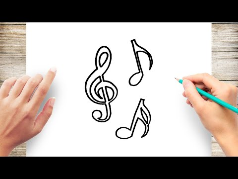 How to Draw Music Note Step by Step