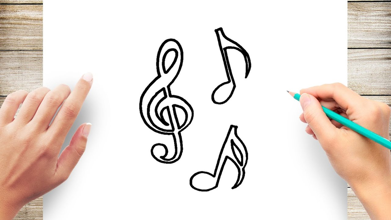 How To Draw Music Note Step By Step Youtube