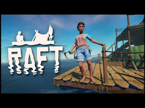 Raft - WHAT LIES BELOW?! Remember The Ocean Fortress Mansion? (Raft Gameplay)