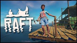 Raft - WHAT LIES BELOW?! Remember The Ocean Fortress Mansion? (Raft Gameplay)