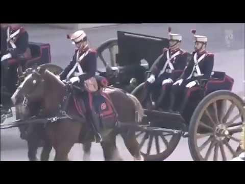 Los Reyes de España reciben al presidente de Argentina, Mauricio Macri y Juliana Awada.