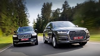Volvo XC90 vs Audi Q7 (English Subs) — комментарий Михаила Петровского(Обе машины прорывные, но Audi производит более сильное впечатление. От автора: Внимание! Всем, кому не хватает..., 2015-09-21T11:06:07.000Z)