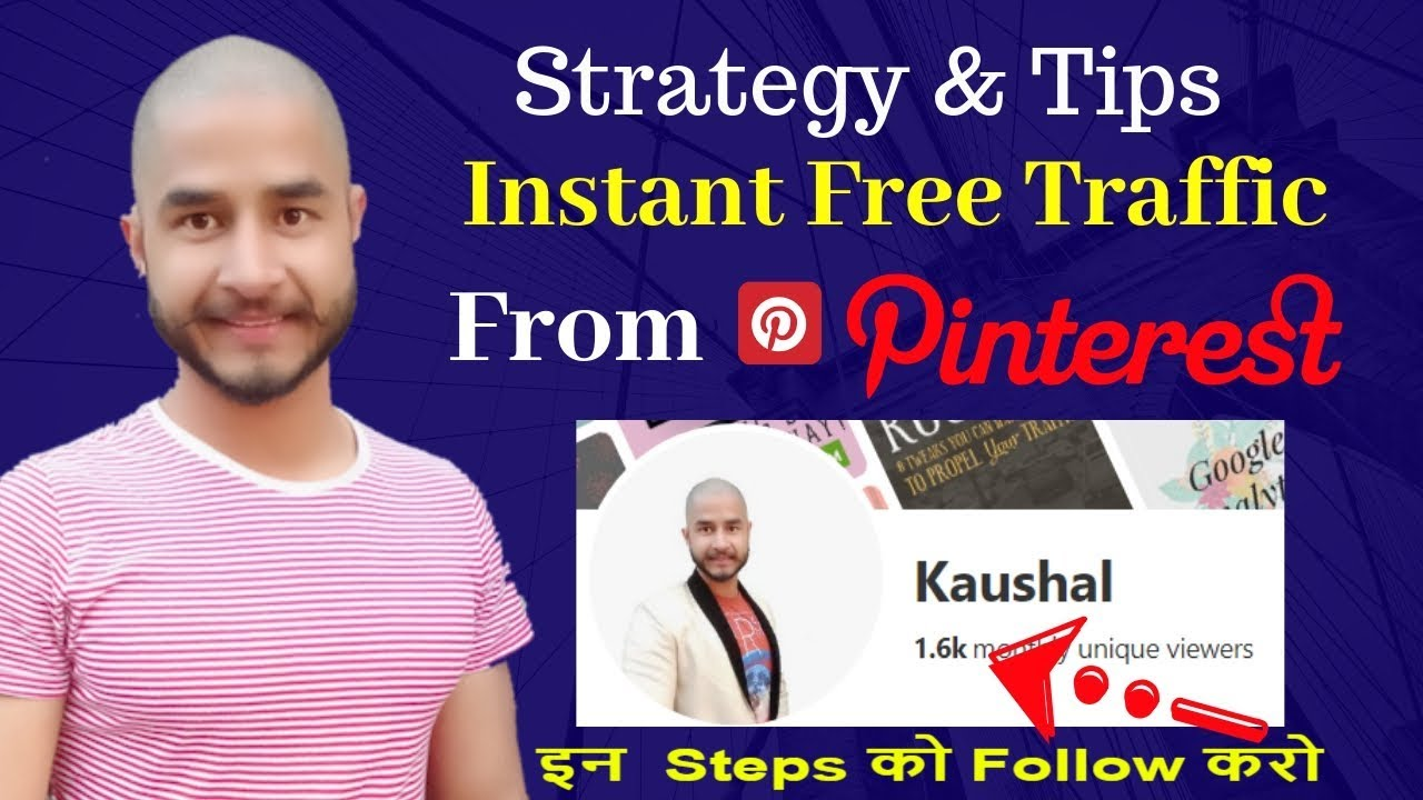 How to increase or Get real instant massive free traffic from pinterest without seo