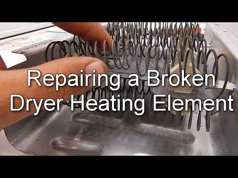 How to Repair a Broken Dryer Heating Element