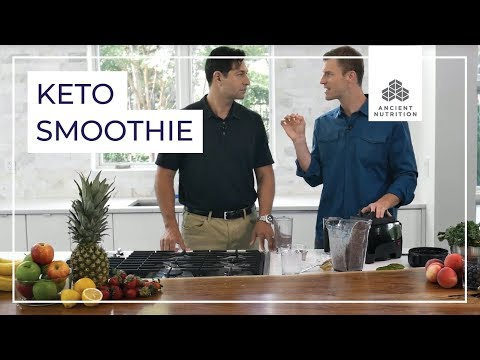 Blueberry Keto Smoothie with Dr Axe and Jordan Rubin  Ancient Nutrition