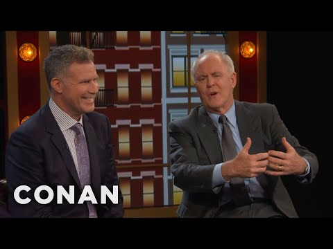 Will Ferrell & John Lithgow's Off-Camera Kisses  - CONAN on TBS