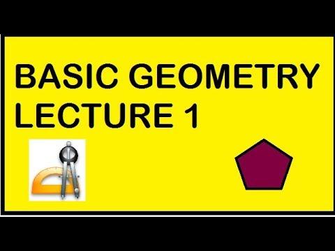 Geometry: Basic Geometry Lecture 1  in hindi (English medium)