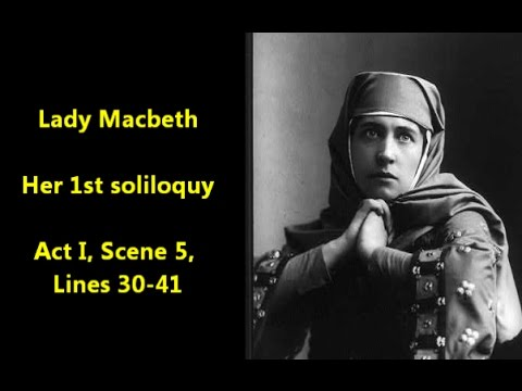 lady macbeth soliloquy essay Get an answer for 'why is lady macbeth's soliloquy in act 1, scene 5 important to the play' and find homework help for other macbeth questions at enotes.