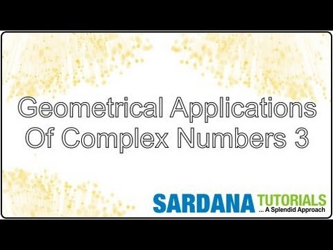 Geometrical Applications Of Complex Numbers - YouTube