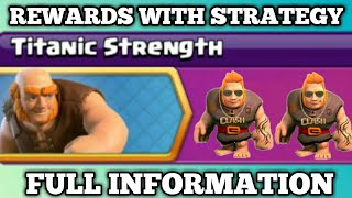 Upcoming New Events Titanic Strength full Information in Clash of Clans