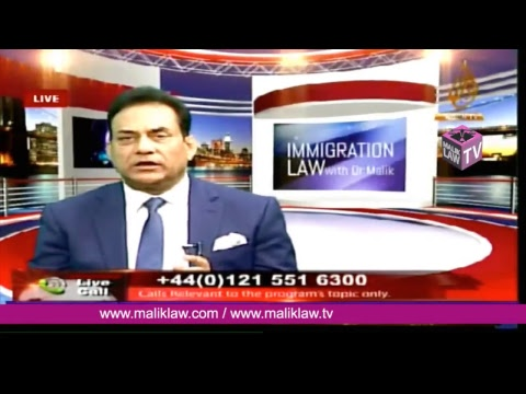 Noor TVs Immigration Law with Dr Malik  24  March  2018