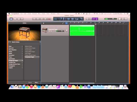GarageBand Tutorial 3 - Recording a MIDI Keyboard on an iMac