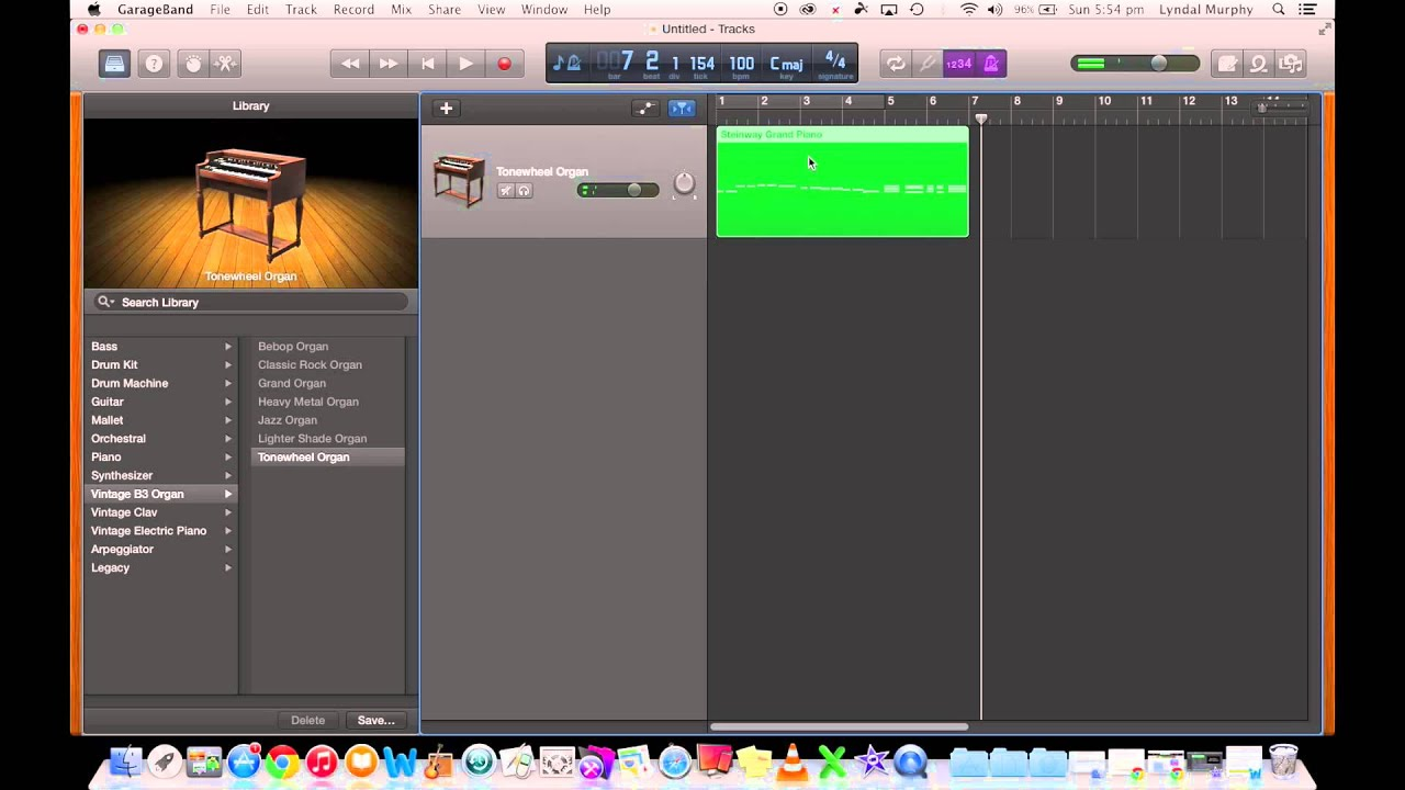 GarageBand Tutorial 3 - Recording a MIDI Keyboard on an iMac